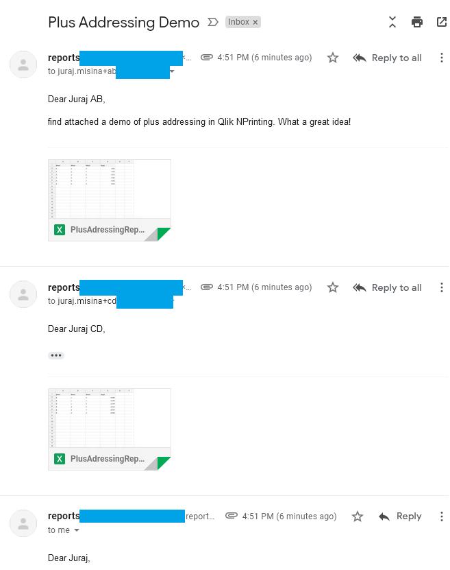 Delivered emails